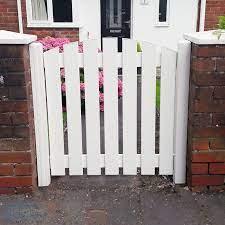 plastic garden gate small slatted