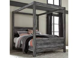 Baystorm Queen Canopy Bed in Gray Finish by Signature Design by Ashley at Sam Levitz Furniture