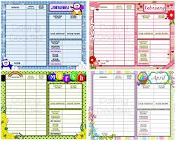 Printable Budgeting Sheets Printable Budget Worksheets Set Of 12 Yearly Budget