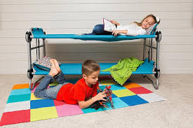 couch bed for kids. Disc-o-bed Kid-o-bunk - Portable Kids Camping Bunk- Couch Bed For