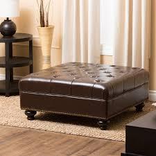 abbyson living oreana leather ottoman