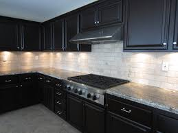 Tile Under Kitchen Cabinets Kitchen Ritzy Mosaic Glass Tiles White Cabinets White Granite