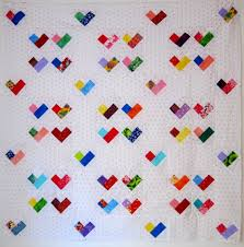 Scrappy Four Patch Heart Quilt | & Doll ... Adamdwight.com