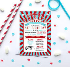 Circus Theme Invitation Circus Themed Birthday Party Invitations Any Age Pack Of 10 With
