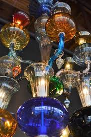 italian multicolored hand blown glass chandelier for