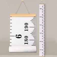 Canvas Height Chart Buy Baby Height Growth Chart Ruler Kinbon Kids Roll Up