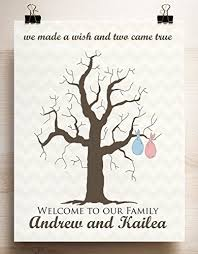 Aliexpresscom  Buy Fingerprint Tree Painting Baby Shower Red Fingerprint Baby Shower Tree
