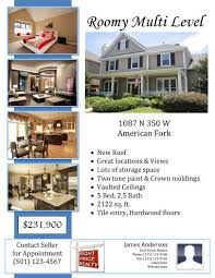 Leaflet With Agent Information In 2019 Real Estate Flyer
