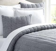 blue striped bedding mini stripe comforter sham pottery barn kohls blue striped comforter set blue striped bedding