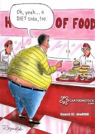 Image result for cartoon images of fat kids in restaurants