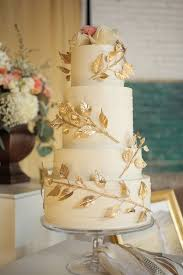 25 cute gold square wedding cakes ideas