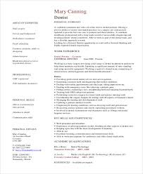 Resume Template Dentist Resume Sample Best Sample Resume Template