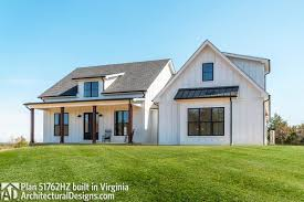 Architectural Designs 51766hz Plan 51762hz Budget Friendly Modern Farmhouse Plan With
