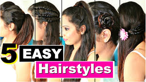 Simple Hairstyles For College 5 Easy Heatless Hairstyles Quick College Hairstyles