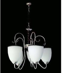 universal chandelier lighting 5 bulb chandelier white and silver this chandelier and get free gift of 5 18watts energy saving bulb that