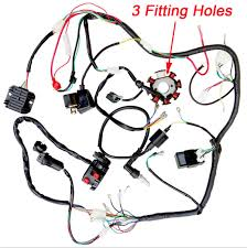 Plete electrics atv quad 200cc 250cc cdi wire harness zongshen lifan 3 holes