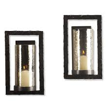 contemporary candle sconces wall decor tags  glass and metal