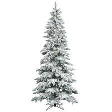Flocked Christmas Trees Youu0027ll Love  WayfairSlim Flocked Christmas Trees Artificial