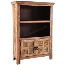 Aravali 2 Door Small Bookcase Mango Wood Furniture