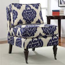 Overstock Living Room Chairs Cassidy Indigo Ikat Armless Chair Blue Fabric Indigo Leather