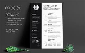 Modern Resume Template Free Download Word