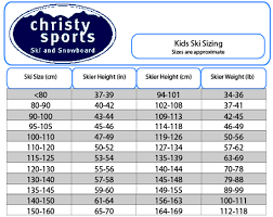 Ski Length Height Chart 22 Expert Rockered Ski Size Chart