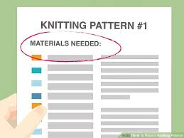 How To Read A Knitting Pattern Simple 48 Ways To Read A Knitting Pattern WikiHow