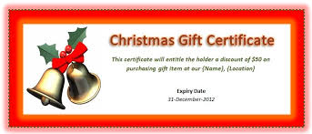 Microsoft Word Templates Gift Certificates Microsoft Christmas Gift Certificate Template