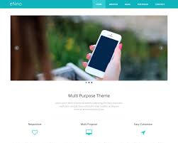 Bootstrap Website Enno Free Simple Bootstrap Template Bootstraptaste