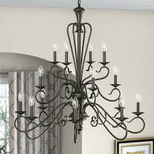 16 light chandelier progress lighting transitional crystal