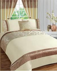 cream beige colour modern damask stylish bedding quality duvet quilt cover set