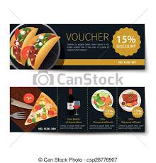Food Voucher Template New Set Of Food Voucher Discount Template Design