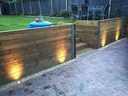 solar retaining wall lights furniture led light 6 deck step and landscape retaining wall within retaining