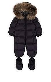 Moncler Infants  Fur-Trimmed Down-Quilted Snowsuit