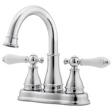 pfister sonterra polished chrome 2 handle 4 in centerset watersense bathroom sink faucet with drain
