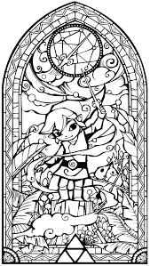 Pin By On Anime Stickers Coloring Pages Stained Glass Coloring Pages