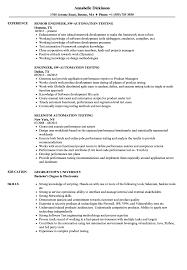 Automation Testing Resume Samples Velvet Jobs