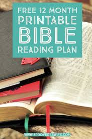 Free Bible Reading Chart Printable Free 12 Month Bible Reading Plan This Is A Very Simple Plan