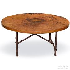 decoration in round copper coffee table with coffee table the best copper outdoor hammered tops round