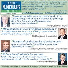 mcnicholas for judge mcnicholas services ads from tcpalm mcnicholas for judge government ads from tcpalm