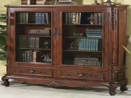 cool solid wood bookcases for terrific bookshelf with doors and drawers small decoration antique bookcase
