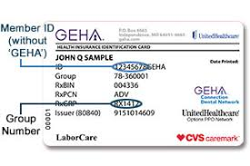sample id cards sample id card geha