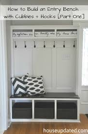 Entrance Bench With Coat Rack Adorable How To Build An Entry Bench With Cubbies And Hooks [Part One