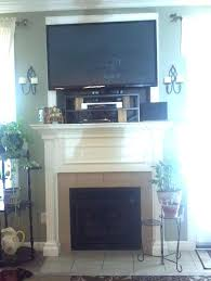 tv on wall over fireplace help with mounting flat screen over fireplace knockout wall mount tv