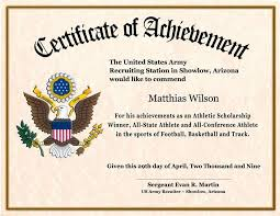 Army Certificate Of Achievement Template Army Certificate Of Completion Template Army Certificate Of 2
