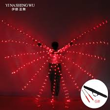 NEW <b>women belly dance</b> lamp <b>props</b> open 360 degrees LED ...