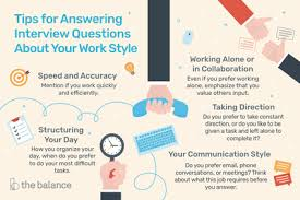 How Do You Feel About Your Present Workload Answer To Interview Questions About Your Work Style