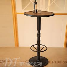 elegant tall round bar table with tables and intended