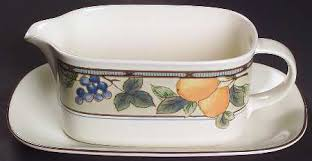 mikasa garden harvest. Mikasa Garden Harvest Gravy Boat \u0026 Underplate (Relish/Butter) N