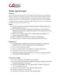 Senior Programmer Job Description Amazing Mobile Developer Job Description Trisamoorddinerco